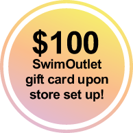 $100 SwimOutlet gift card upon store set up!