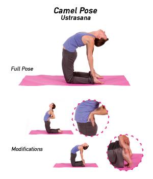 chacras y yoga postura del camello