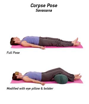 yoga postura del cadáver