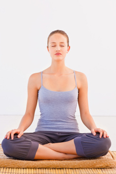 Easy Pose \u2014 Sukhasana (soo,KAHS,uh,nuh) \u2014 is a basic seated yoga posture.  It is depicted in some of the oldest images of ancient yogis in India,
