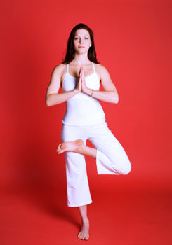 how to do half lotus tree pose in yoga
