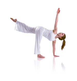 how to do revolved half moon pose in yoga
