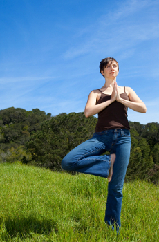 yoga standing balance poses for beginners