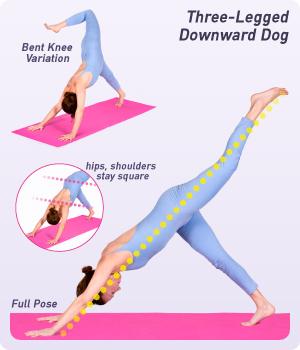 How To Do Three Legged Downward Dog In Yoga