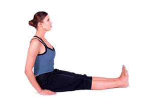 how to do seated staff pose in yoga