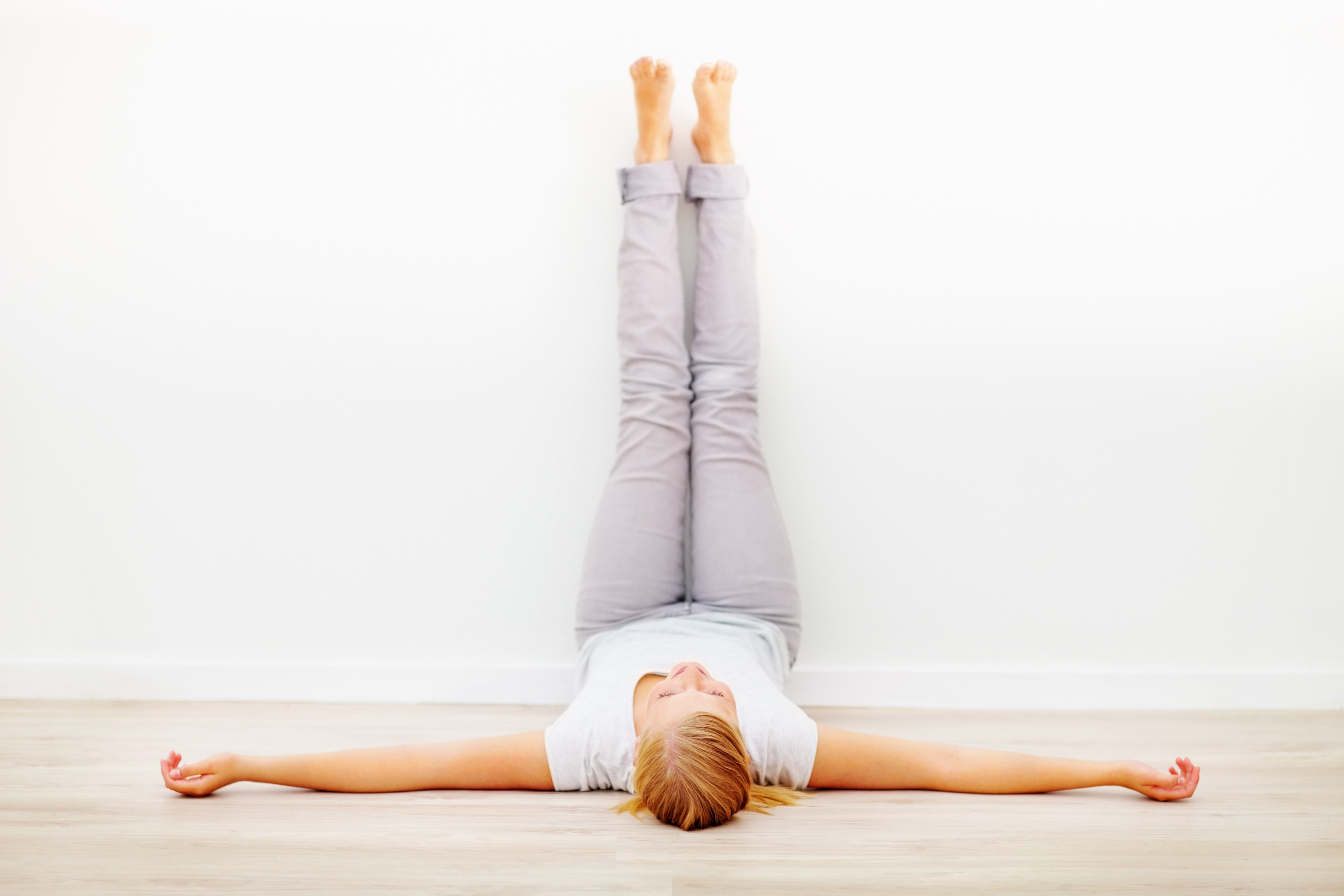 Learn How to do Legs Up the Wall Pose with Meddy Teddy and Yoga Outlet