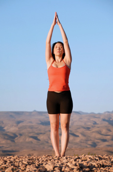 how to do upward salute in yoga